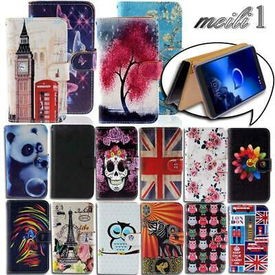 Folio Leather Stand Wallet Cover Case For Alcatel 1/1C /1S /1X /3/Onyx  2019 • 3.99£