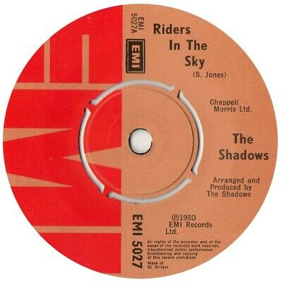 The Shadows ‎– Riders In The Sky   7  Vinyl 45rpm • 2.99£