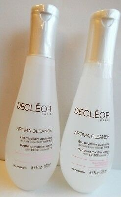 Decleor DUO Aroma Cleanse Soothing Micellar Water 2 X 200 ML SEALED NEW • 26£