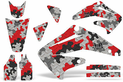 $149.95 • Buy Dirt Bike Graphics Kit Decal Sticker Wrap For Honda CRF450R 2002-2004 CAMO RED