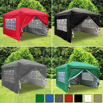 £134.99 • Buy 3x3m Garden Pop Up Gazebo Marquee Party Tent Wedding Canopy 4 Sides 7 Colours