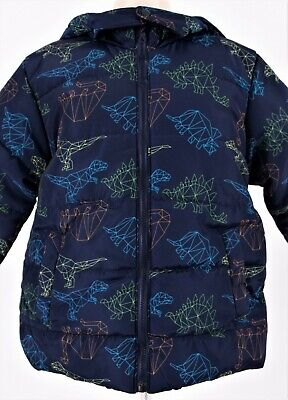 Kids Toddlers Thick Winter Coats With Dinosaur Design & Removable Hood • 10.50£