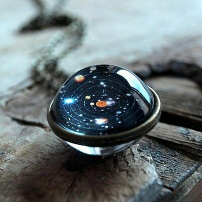 $0.99 • Buy Solar System Necklace Pendant, Planet Necklace,Galaxy S, Double Sided Glass Dome