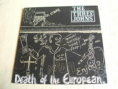 The Three Johns Death Of The European 1985  Uk 7  Single  Abstract Label Abs 034 • 7.45£
