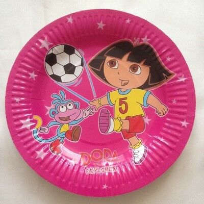DORA Birthday Children Party Plates Tableware 10 Pcs • 2.95£