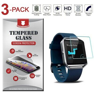 $ CDN3.66 • Buy 3-Pack Tempered Glass Film Screen Protector For Fitbit Blaze