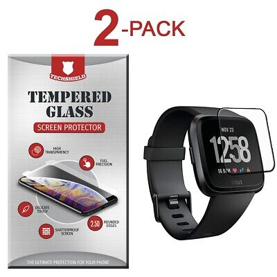 $ CDN4.22 • Buy 2-Pack Tempered Glass Film Screen Protector For Fitbit Versa