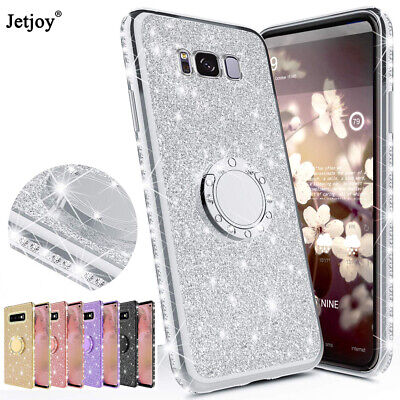 AU4.71 • Buy For Galaxy M30 A50/70 Glitter Stand Cover For Samsung A7 2018 J6 Plus Phone Case