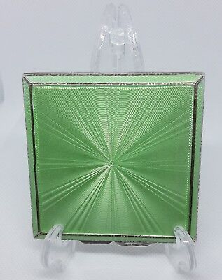 Sterling Silver & Guilloche Enamel Powder Compact  • 195£