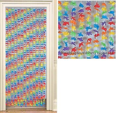 Lei Flowers Hawaiian Door Curtain Tropical Beach Luau Party Decorations Birthday • 13.49£