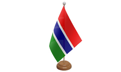 £4.99 • Buy Gambia Table Desk Flag & Wooden Base 9  X 6