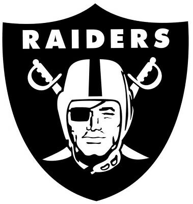 Oakland Raiders Die Cut Stickers