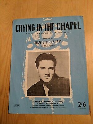 Uk Elvis Presley Sheet Music Crying In The Chapel • 8£