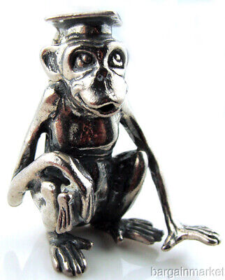 $ CDN253.93 • Buy Heavy Sterling Silver Monkey Chimpanzee Graduate Figurine Paper Weight S42