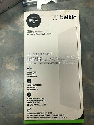 AU40.21 • Buy Iphone X Belkin Accessory Glass By Coming Screenforce Invisiglass Ultra New