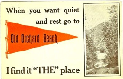 $11.88 • Buy Old Orchard Beach ME Scenic 1912 Red Pennant Greetings From Old Orchard Beach