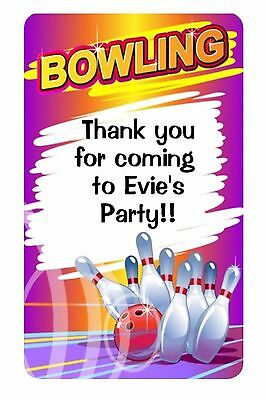 £2.40 • Buy 21 Personalised Glossy Bowling Party Sweet Cone Stickers
