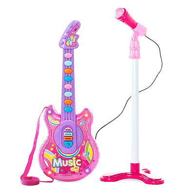 View Details BCP 19in Kids Toddlers Musical Flash Guitar Pretend Play Toy W/ Mic, Stand • 19.99$