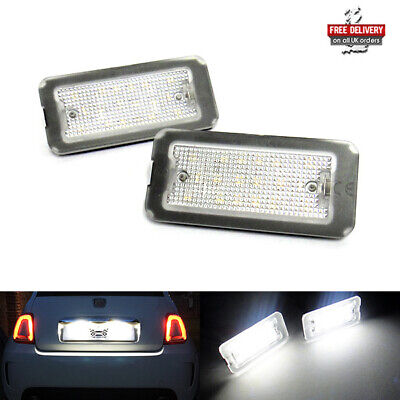 £17.95 • Buy 2 LED Licence Number Plate Light White No Error 07+ Fiat 500 500C 312 Abarth 595