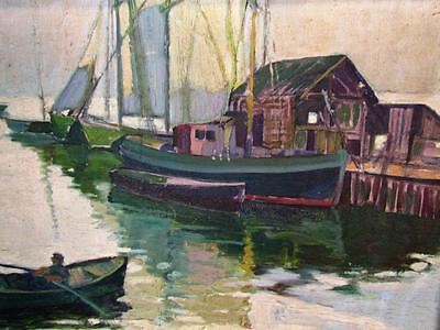 $540 • Buy *fantastic* Antique 1934 Rockport,ma Impressionist Painting Signed Tannar