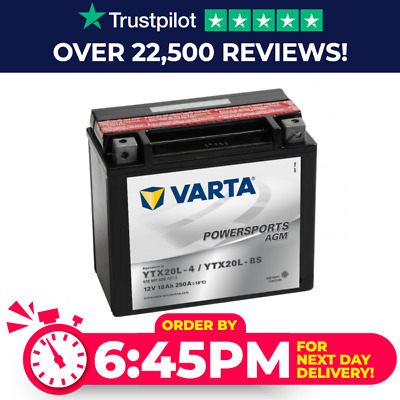 518 901 026 Varta Powersports AGM Motorcycle Battery - Replaces YTX20L-BS • 57.50£