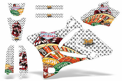 AU224.15 • Buy Dirt Bike Decal Graphics Kit MX Sticker Wrap For Yamaha YZ85 2002-2014 VEGAS WHT