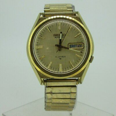 $ CDN52 • Buy Vintage Seiko Automatic 7009-7009 17J Gold Tone Stainless Steel Watch Parts