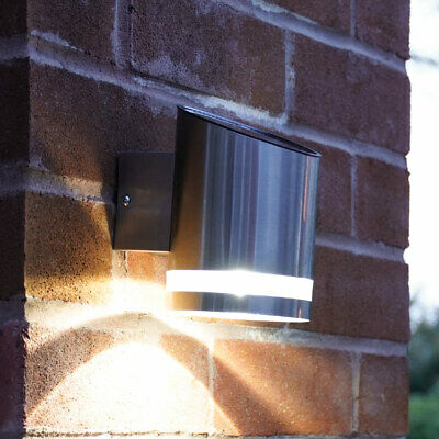 Solar Power Outdoor Stainless Steel LED Welcome Wall Light | Garden Fence • 16.49£