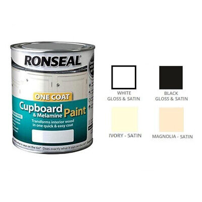 Ronseal One Coat Cupboard Melamine & MDF Paint 750ml - All Colours • 23.60£