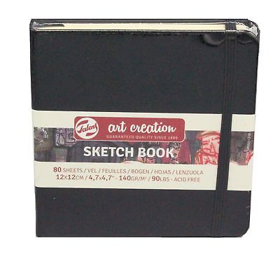 £5.54 • Buy Sketch Book 12x 12cm 80 Sheets 140gsm Square Drawing Paper Pad Talens
