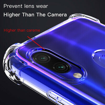 For Xiaomi Redmi Note 7 8 Pro Shockproof Clear Slim Soft TPU AirBag Case Cover • 5.89$