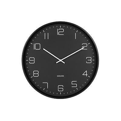 £32.59 • Buy Karlsson Lofty Iron 40 Cm Wall Clock Silent Classic Design With Modern Numbers