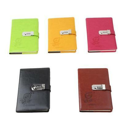 AU17.69 • Buy Diaries Journals Notebook PU Leather A5 With Code Lock Secret Diary Girl HC