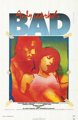 $149.99 • Buy Andy Warhol's Bad (1977) Original Movie Poster - Single-sided - Folded