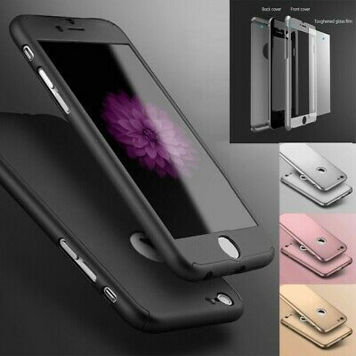 Case For IPhone 12 11 6s 7 8 Plus XR XS Cover 360 Luxury Thin Shockproof Hybrid • 2.79£