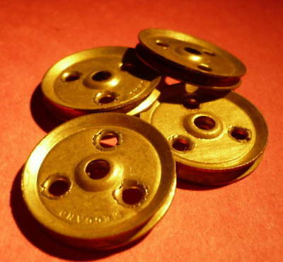 Four Meccano Pulley Wheels Part 22a  • 1.20£