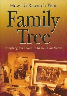 How To Research Your Family Tree - History Genealogy Tutor Book - Brand New • 2.49£