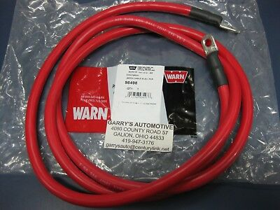 $57 • Buy Genuine WARN 98498 33295 Red Replacement Winch Battery Cable 72  2ga Copper