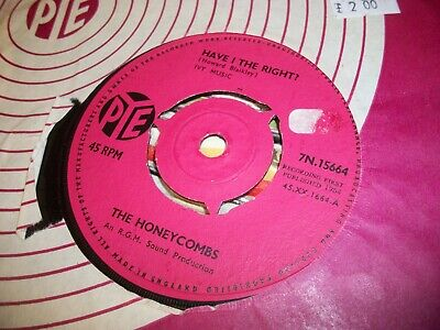 THE HONEYCOMBS- HAVE I THE RIGHT VINYL 7  45RPM Co • 1.49£