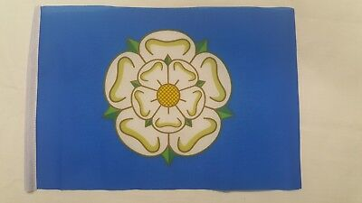 Yorkshire County White Rose Flag Mini Small 9 X6  22cm X 15cm Polyester Sleeved • 2.99£