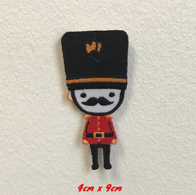 £1.99 • Buy Royal Guard London Moustache Badge Clothes Embroidered Iron On Sew On Patch