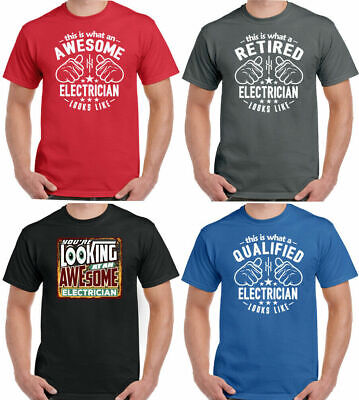 £9.99 • Buy Electrician T-Shirt This Is What An Looks Like Mens Funny Sparky Electrics Top