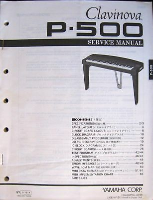 AU35.36 • Buy Yamaha Service Manual Original Books Digital Piano, PDP-400 P-500 YPR-20 YFP-70
