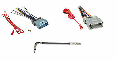 $10.47 • Buy Combo Car Radio Stereo Wiring Harness Antenna For Specific Chevy GMC Pontiac