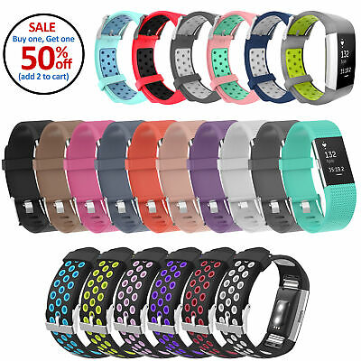 $ CDN4.57 • Buy Replacement Sports Silicone Strap Band Bracelet For Fitbit Charge 2, Charge 2 HR