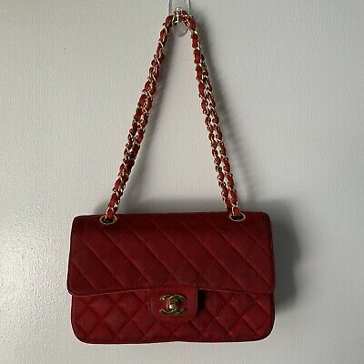 864fd3aec297 Vintage CHANEL Red Quilted Double Flap Classic Bag • 999.50$
