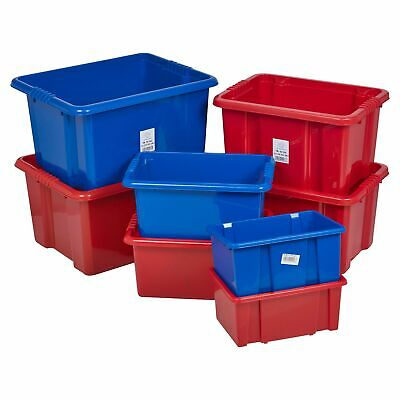 £7.49 • Buy Coloured Plastic Storage Box Quality Stackable Arts & Craft Container Home NEW