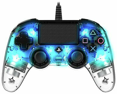 Nacon Sony Playstation PS4 Compact Controller - Crystal Blue • 24.99£