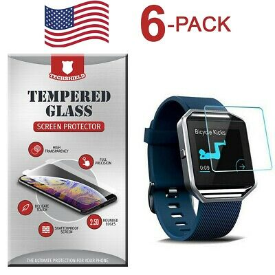 $ CDN6.83 • Buy 6-Pack Tempered Glass Film Screen Protector For Fitbit Blaze