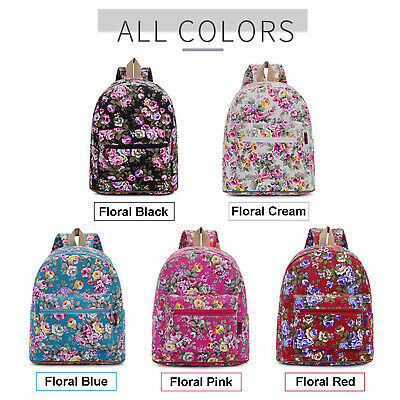 $19.95 • Buy Fashion Backpack BTS, Beautiful Floral Design Casual Daypack Essential Bag 14
